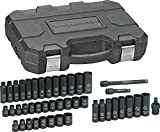 "GEARWRENCH 84916N, 3/8"" Drive 6 Point Standard & Deep Impact SAE/Metric Socket Set - 44 Pc"