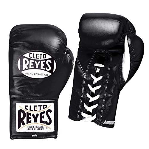 Cleto Reyes Safetec Professional Fight Gloves, Black, 10-Ounce