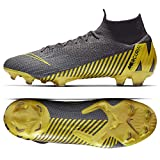 Nike Unisex Adults Mercurial Superfly 6 Elite FG Soccer Cleats Grey Yellow AH7365 070 (10.5)