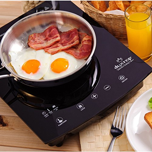 DUXTOP 1800-Watt Portable Sensor Touch Induction Cooktop Countertop Burner 8310ST Latest Version (Black)
