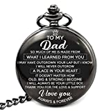 Memory gift - A special gift from son to Dad, engraved pocket watch with love message to Dad. Best gift from son to Dad on special occasion for Father day, Birthday, Christmas, Wedding.