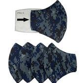 4-Cubre-bocas-tricapa-de-algodon-Grande-o-Mediano-Soporte-nasal-Espacio-para-filtro-filtro-no-incluido-Con-Elastico-Plano-de-80-cm-para-pasar-por-detras-de-la-cabeza-Lavable-Reutilizable-Tela