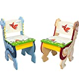 Product review for Fantasy Fields - Dinosaur Kingdom Thematic Kids Wooden 2 Chairs Set |Imagination Inspiring Hand Crafted & Hand Painted Details   Non-Toxic, Lead Free Water-based Paint