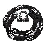 AKM Security Bike Chain Lock Heavy Duty Bicycle Lock Bike Disc Lock 16mm U Lock,6.6-Feet Motorcycle Lock Black