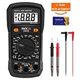 TACKLIFE Multimeter, DM03B Electrical Tester 2000 Counts Manual-Ranging Amp Volt Ohm Meter Diode and Continuity Tester Voltage Detection with LCD Display Backlight