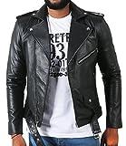 Laverapelle Men's Lambskin Real Leather Jacket Black - 1510398