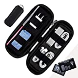 Power Packer Electronic Cable Organizer Case for Phone & Computer Accessories - Smart Versatile Travel Storage Bag for Electronics, Tech Gadgets, Cords, Adapters - Shadow. Bonus Gift: Sim Card Holder