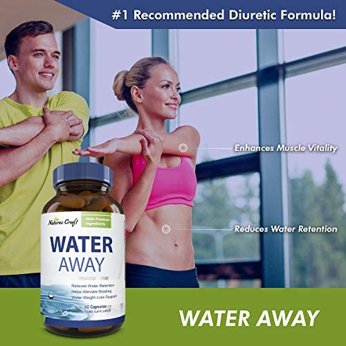 Water Away Diuretic Supplement with Dandelion Leaf – Bloat Relief Pills Weight Loss Relieve Swelling Water Retention – Natural Green Tea Extract Potassium Vitamin B6 for Men & Women 7