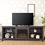"""Product review for WE Furniture 70"""" Wood Fireplace TV Stand Console, Espresso"""