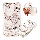 Marble Patterns Design Cover for LG K8 2017, MOIKY Slim Soft Skin Touch Protective in TPU Bumper Gel Case Anti-Scratch Shock Resistant Shell for LG K8 2017 - White