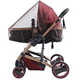 Mosquito Net for Stroller, Car Seat Screen Cover, Adorife Stretchable Insect Bug Netting for Baby Carseat, Carriers, Cradles, Bassinet (Brown)