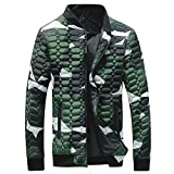 2018 New Mens Winter Camouflage Thickening Coat Pullover Shirt Top Jacket