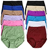 ToBeInStyle Women's 6 Pack Highwaisted Full Girdle Panties - Assorted - XL
