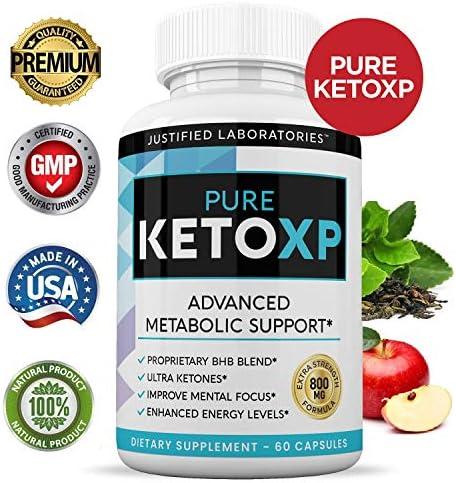 Pure Keto Xp Pills Advanced BHB Ketogenic Supplement Exogenous Ketones Ketosis for Men Women 60 Capsules 2 Bottles 4
