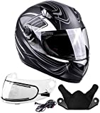 Typhoon Helmets Adult Full Face Snowmobile Winter Helmet With Heated Face Shield DOT (Grey, XL)