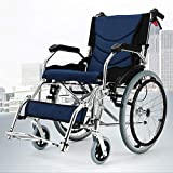 Canes- Wheelchair Folding Portable Trolley, Elderly Disabled Wheelchair, Aluminum Alloy Ultralight Scooter (Color : B)