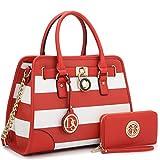 MKP Collection Fashion Woman Handbag and Wallet set~Beautiful Tote~Designer Satchel~Nice Purse (6892W) RD/WT