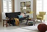 DHP 3107098 8' Polyester Futon Mattress Sofa Bed, Full, Navy