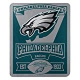 The Northwest Company Officially Licensed NFL Philadelphia Eagles Marque Printed Fleece Throw Blanket, 50' x 60', Multi Color