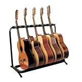 Glarry 5 Multi Guitar Bass Folding Stand Stage 5 Holder Rack Guitar Stand