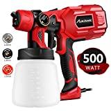 Paint Sprayer, Electric Spray Gun with 3 Spray Patterns, 3 Copper Nozzles, Flow Control and 800ml Detachable Container for Various Painting Projects, Avid Power MSYG129