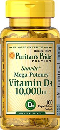 Puritan's Pride Vitamin D3 10,000 IU-100 Softgels