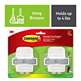 Command by 3M Broom Hanger, Decorate Damage Free, Strong and Versatile, 2 grippers, 4 strips, Value Pack (17007-HW2ES)