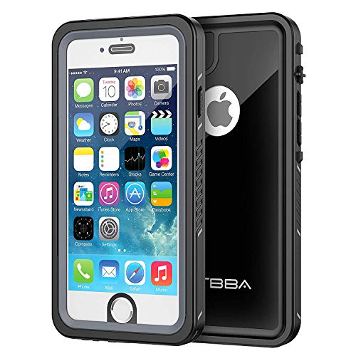 iPhone 6/6s Waterproof Case, OTBBA Sandproof IP68 Certified with Touch ID Shockproof Snowproof Full Body Cover for iPhone 6/6s (Black)