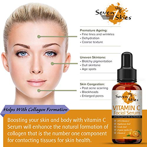 51tdEkcxZ1L - Seven Skies Vitamin C Serum For Face And Skin Rejuvenation With Hyaluronic Acid Vitamin C And Vitamin E - Natural Anti Aging & Wrinkle Facial Serum 30ml (1 fl. Oz.)