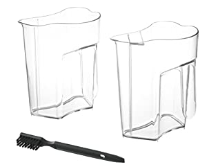 The juice jug and pulp bin can be cleaned with the included brush