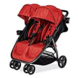 Premium Double Tandem Baby Strollers, Umbrella For Lightweight Use (21.15 Pounds) With Infants, Toddlers And Kids, Salsa Red Color