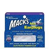Mack's AquaBlock Earplugs - Clear - (2 Pair)