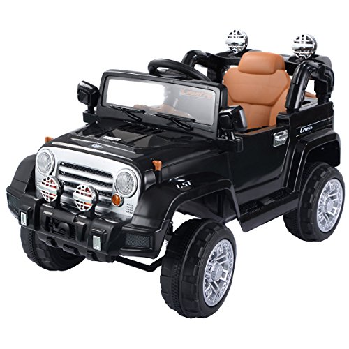 Costzon 12V MP3 Kids Ride On Truck Jeep Car RC Remote Control w/ LED Lights Music New