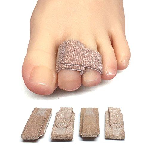 ZenToes Broken Toe Wraps 4 Pack Cushioned Bandages Hammer Toe Separator Splints