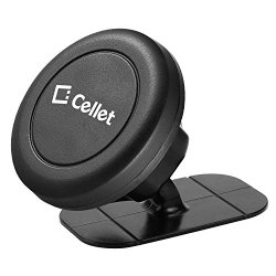 Cellet PHEM180 Car Mount, Magnetic Stick On Car Dash Mount holder With Snap On Technology for Smartphones and Mini Tablets-Universal Compatibility- Galaxy S8/Edge/S7, Note 8, iPhone 8/8 Plus/X, Nexus