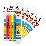 Sharpie Pocket Style Highlighters, Chisel Tip, Assorted Fluorescent, 24 Count (6 Packs of 4)