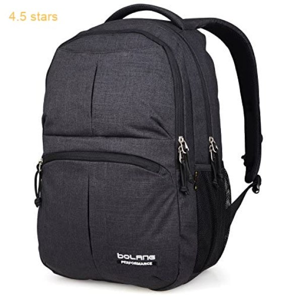 5cecfbe9dd9a Water Resistant School Backpack Bolang College Bags For Casual Travel  Business 8459 (Black)