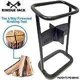 EasyGoProducts Jack Axe Wedge Firewood Kindling Tool Cuts 4 Ways - Wood Log Cracker Splitter-Patent Pending