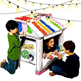 UC Global Trade Inc Stage Playhouse for Creative Coloring - Cardboard House for Kids and Additional Sticker Decorations