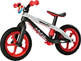 Chillafish BMXie-RS: BMX Balance Bike with Airless RubberSkin Tires, Red (Light My Fire)
