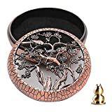 GUVVEAZ Alloy Incense Holder Burner (Stick/Cone/Coil Incense) Ash Catcher Tray Bowl with Incense Stick Holder with Fireproof Cotton as Gift