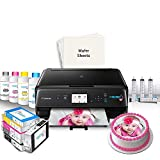 Icinginks Edible Printer Bundle for Canon - Includes Edible Printer for Cakes, Edible Ink Cartridges, Edible Wafer Papers, Edible Ink Refill and Kit - Edible Image Printer for Edible Photo Printing