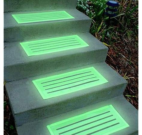 Amazon Com Skymall Glow In The Dark Indoor Outdoor Stair Treads   Amazon Outdoor Stair Treads   Non Slip   Self Adhesive   Mat   Treads Carpet   Indoor Outdoor