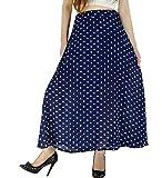 Product review of YSJ Women's Polka Dot Chiffon Long Skirt Chic Summer A Line Swing Skirts