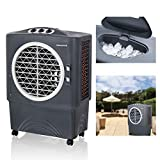 Honeywell Powerful Outdoor Portable Evaporative Cooler with Fan, Long-Lasting Honeywell Honeycomb Pads  on 3 sides & Copper Continuous Water Supply Connection, CO48PM