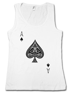 ACE of Spades I Woman Tank TOP - Spade Ace Poker Card Casino Karte Royal Flush Pik As
