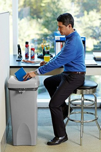 Rubbermaid-Commercial-Products-Untouchable-Square-TrashGarbage-Container-with-Lid-Gray-2001584