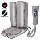 Air Compression Leg Massager for Foot and Calf Massage with Optional Heat 3 Modes 4 Intensities for Feet, Legs, Calves and Muscle Relaxation