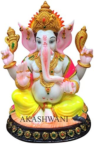 Buy Akashwani Ganesh Ji Siddhi Vinayak Gold Plated Statue For Temple Home Decor Office 12 Inches Online At Low Prices In India Amazon In