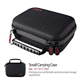 Small Case for GoPro Hero7 Black,6,5, 4, 3+, 3,Hero(2018) HSU Carrying Case for Action Cameras and GoPro Accessories(Small Size Red)